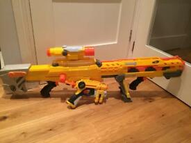 Nerf Longshot and Nerf Pistol