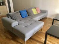 Vittorio corner sofa bought on made . com in Pearl Grey