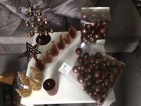 Next Christmas Decorations. Chocolate Brown