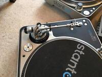 Record decks and mixer