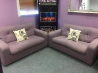 2 lilac couches