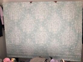 Laura Ashley Roman Blind in Duck egg Maddox fabric