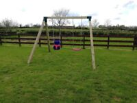 New Kids double wooden swing sets built to your requirements!!