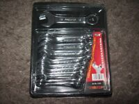 BRAND NEW 10 PCE COMBINATION STUBBY SPANNER SET