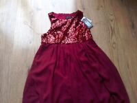 Maternity christmas dress ROCK A BYE ROSIE berry sequin, special occasion, new with tags
