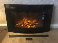LED Curved Log Effect Electric Fire. 1000/2000w with remote control