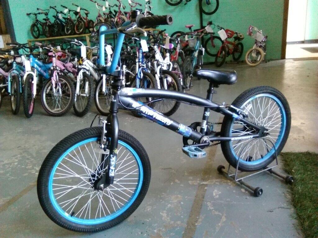 95843cbee11 BOYS GIRLS PROCYCLE HYBRID THEORY BMX BIKE 20 INCH WHEELS 360 GYRO BRAKES  GREY BLUE GOOD CONDITION