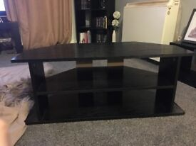 Black wood TV unit