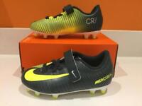 Brand new - RONALDO NIKE JR MERCURIAL VRTX 3 (V) CR7 FG football boots Size 11 & 13 UK infant