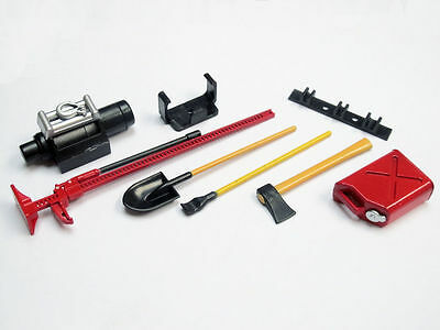 US Seller 1/10 Scale RC Rock Crawler Accessory Tool Set For D90 SCX10 Wraith Red