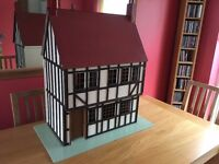 1930's Dolls house with furniture £100