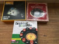 Brand new drinking games 2.00 each ' roulette, shots and ladders