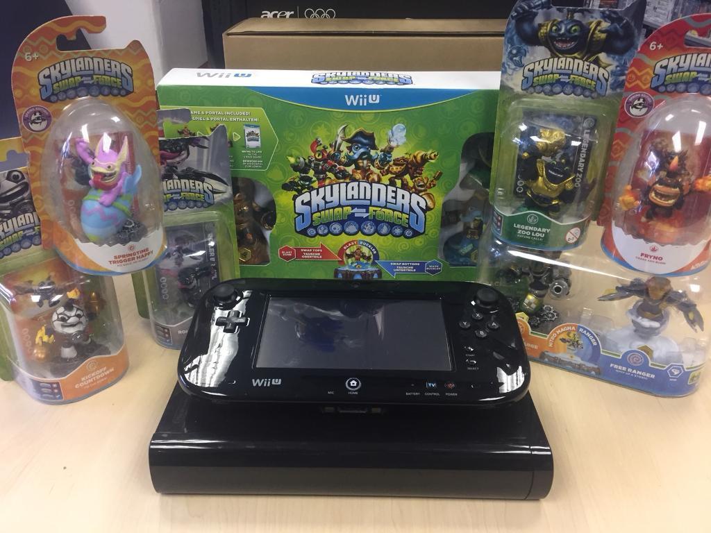 Nintendo Wii u Black Skylanders Bundle
