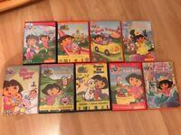 Dora the Explorer DVD's (9 in total)