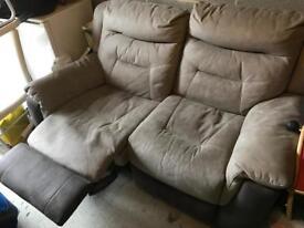 2 seat dfs recliner sofa