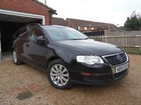 VW PASSAT 1.9TDI S 2006 ESTATE, BLACK, MANUAL( 159G/KM, 103BHP), MOT 24/08/18