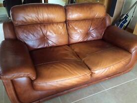 Leather sofa set 3 seat and 2 seat