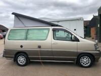 Nissan elgrand AUTOMATIC camper,pop top,low miles,aircon,superb!