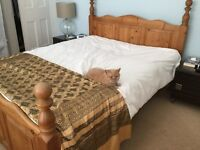 King size Pine bed frame (without mattress)