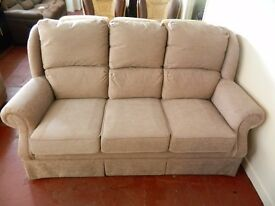 Ex display 3 seater fabric sofa AS NEW