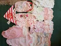 0/3 girls sleepsuits /vests / bibs
