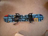 Airtracks snowboard and bindings