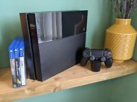 PS4 Console 500gb with Controller, Games and Official Charging Dock