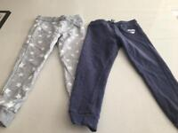 Girls Aged 3-4. Jogging bottoms. Excellent condition