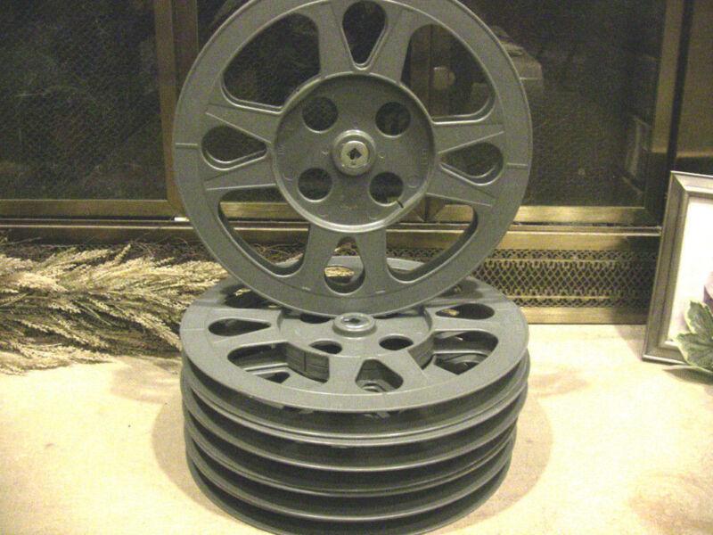 SIX- 800ft 16mm Plastic Film REELS - NEW