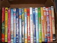 A BOX OF ASSORTED CHILDREN'S DVD'S