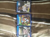 Ps4 games call of duty wwII crash bandicoot Fifa 18 three games £30 pick up only