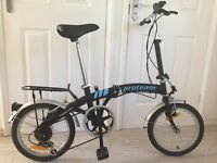 LIGHTWEIGHT PROTEAM FOLDING BICYCLE - AS NEW, NEVER USED - Black (Unisex)
