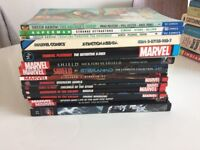 27 Graphic Novels and 5 Comics / Mostly DC and Marvel