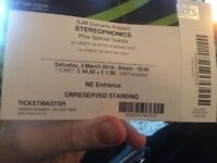 2 stereophonic tickets at Wembley 3/3/18