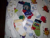 8 pairs of baby socks c. 8-9 cm heel to toe