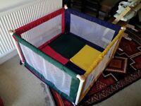 TikkTokk Pokano Fabric Playpen Mat Square.