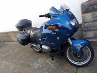bmw r1100rt with luggage