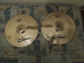 "zildjian hi hat 14"" cymbals"