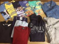 man clothes bundle size between M and L sweaters, jumpers, jacket, shirts , t-shirts