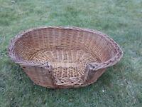 Wicker Pet basket/ Bed