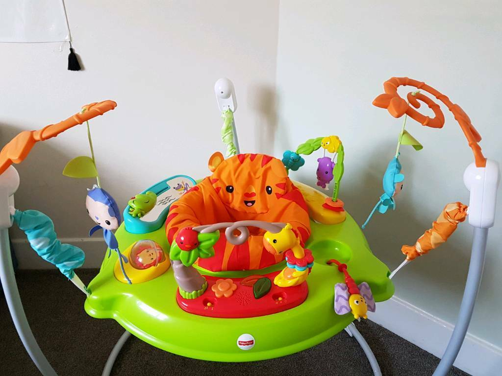 cba87fd0f fisher price roaring rainforest jumperoo baby bouncer activity centre