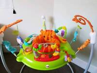 FISHER PRICE ROARING RAINFOREST JUMPEROO BABY BOUNCER ACTIVITY CENTRE