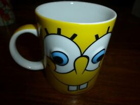 Sponge bob square pants mug with bulbous eyes – never used