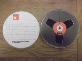 "BASF LP35 1800ft reel-to-reel tape on 7"" plastic spool"