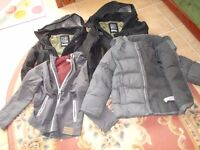 Bundle of 4 boys coats Age 8 Age 9 Age 7 - 8 and age 9 - 10