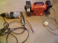 Bosch sds drill + ajax bench grinder