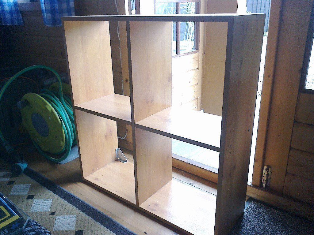 Teak four box shelving