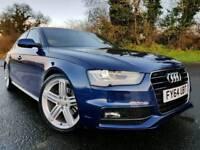 Oct 2014 (Scuba Blue) Audi A4 S Line 2.0 Tdi Auto CVT, Tech Pack! Sat Nav! 49k! CAR AS NEW! 1 Owner