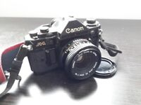 Canon A1 Film Camera With Lens For Sale