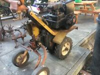 Barn find petrol rotavator complete with all attachments (running) as seen